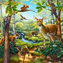 Diamond-Painting Embroidery Mosaic-Decoration Cross-Stitch Square/round-Drill Deer Forest