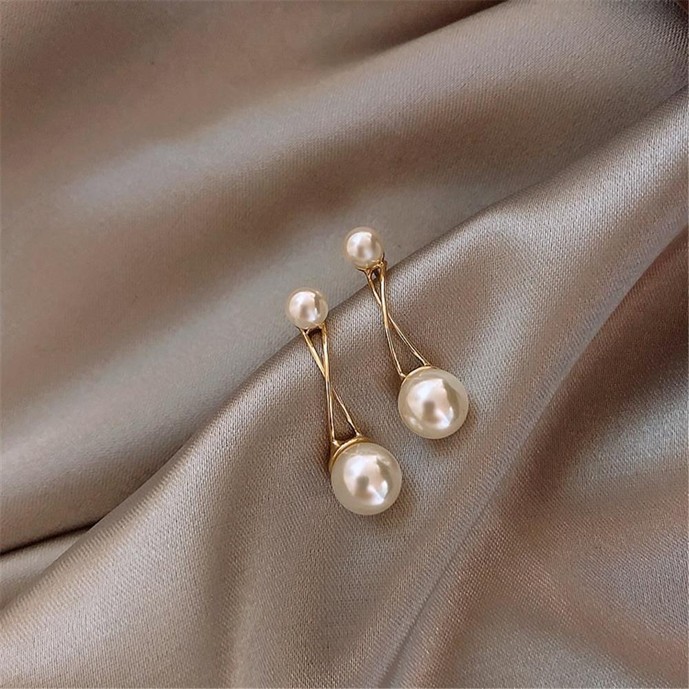 Cross Pearl Simple Temperament Commuting Fashion Earrings  Earrings Wholesale
