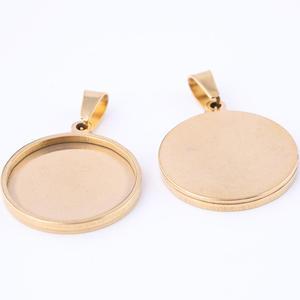 Пустая Кабошон из нержавеющей стали, 10 шт., 20 мм, с покрытием из розового золота, для самостоятельного изготовления ювелирных изделий
