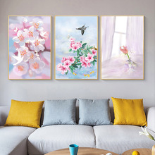 Scandinavian Flower Wall Art Floral Canvas Painting Modern Home Decoration Posters And Prints Wall Picture For Living Room Decor buddha statue canvas painting religious wall art picture for living room bedroom decoration posters and prints modern home decor