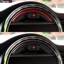 Real Carbon Fiber Console Navigation Screen Warning Light Frame Trim for Mini Cooper F55 F56