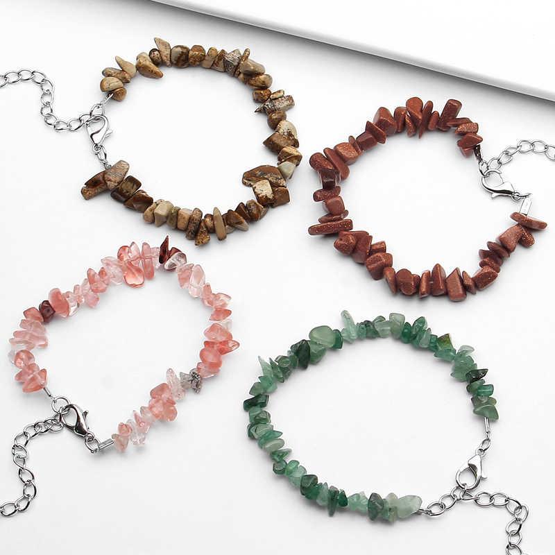 2019 moda bransoletka z kamienia naturalnego mężczyźni koral Turquoises kwarc różowy zroszony bransoletki i Bangles dla kobiet bransoletka biżuteria
