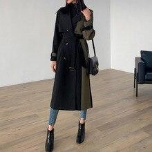 LANMREM 2020 נשים Hit צבע טלאים חגורת כיס מעיל רוח אביב אביב אופנה חדש נשי קוריאני Loose מעיל TB291