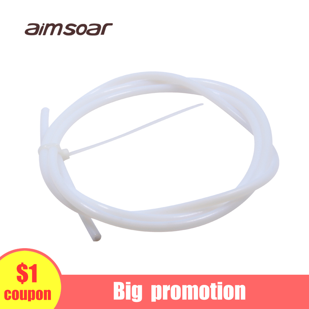 Teflon Tube White 1.75 Ptfe Tube Bowden Extruder 1.75mm Od 4mm Id 2mm 3d Printer Parts 1 Meter