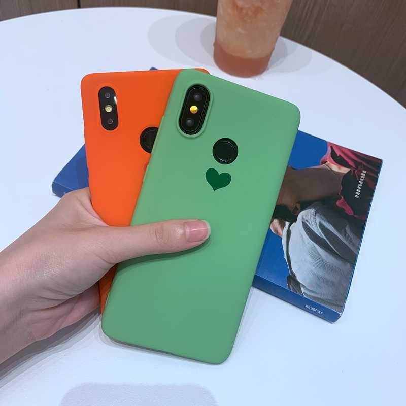 Für Xiao mi mi 9 9T 8 SE A1 A2 A3 Lite Rot mi 6A Hinweis 5 6 Plus 7 K20 Pro S2 Candy Farbe Liebe Herz Weiche TPU Silikon Fall Abdeckung