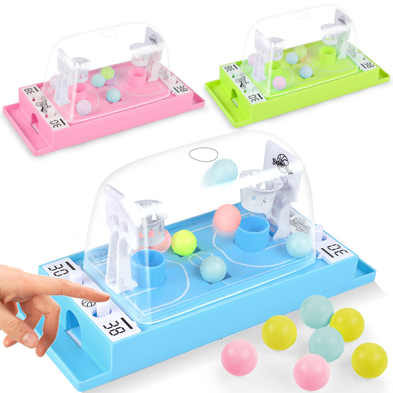 Children's table games, ejection basketball competitions, double finger shooting, parent-child interactive puzzle toys image
