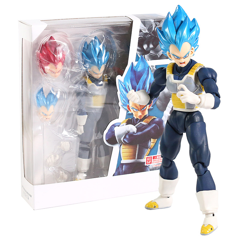 SHF Dragon Ball Super Super Saiyan God Blue SSGSS Vegeta PVC Action Figure Collectible Model Toy