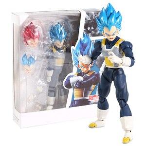 SHF Dragon Ball Super Super Saiyan God Blue SSGSS Vegeta PVC Action Figure Collectible Model Toy(China)