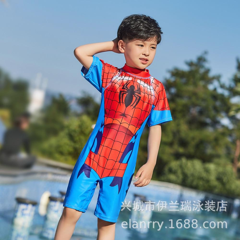 2019 One-piece Swimsuit For Children Boy Spider-Man Tour Bathing Suit Baby Beach Bubble Hot Spring Swimwear