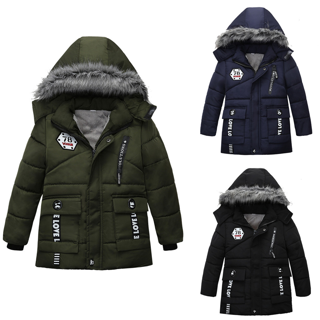 Coat Jackets Winter Outerwear Girl Thick Baby Boys Kids Children Outdoor Hooded for Clothing