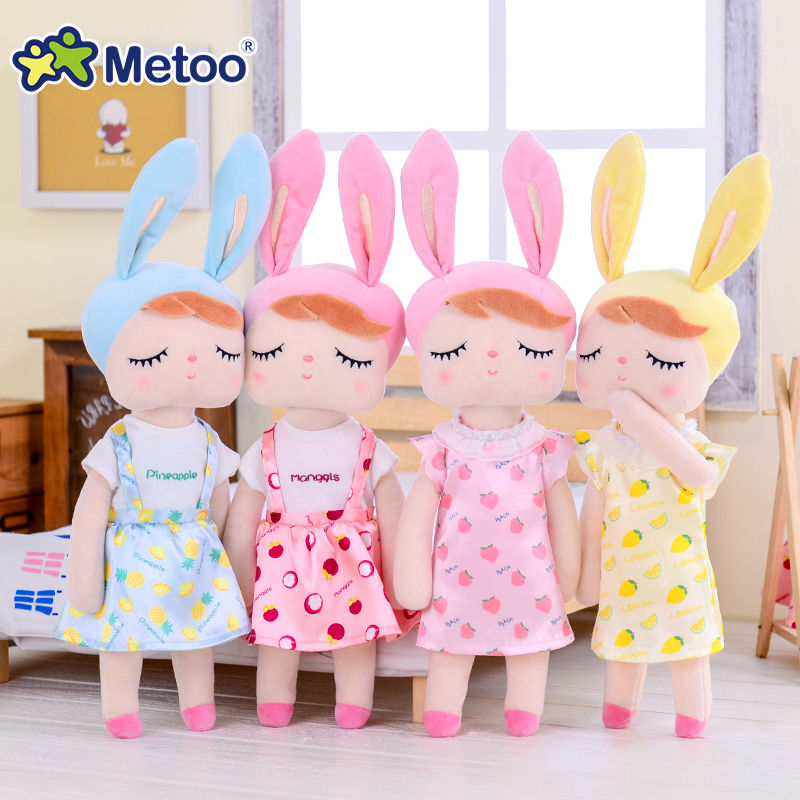 Metoo Newest Plush&Stuffed Sweet Rabbit Cute Animals For Kids Toys Angela Doll For Girls Birthday Christmas Gift Dres