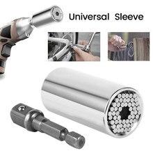 Universal Torque Wrench Head Set Socket Sleeve 7 19mm Power Drill Ratchet Bushing Spanner Key Magic Multi Hand Tools