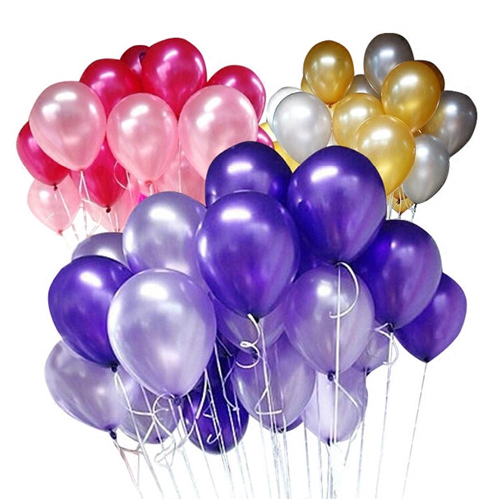 100Pcs 10inch Balloons Decor Assorted Color Latex Balloon Wedding Birthday Party Decor Balloon Home Decor Romantic Atmosphere in Ballons Accessories from Home Garden