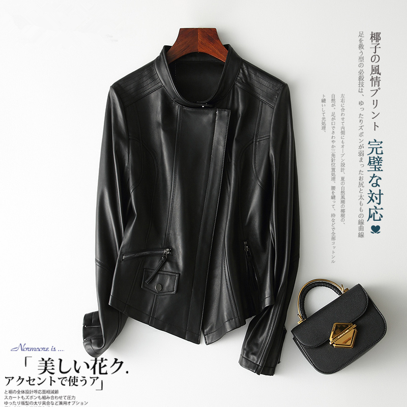 Genuine Leather Jacket For Women Winter Autumn Clothes 2020 Korean Moto Biker Short Sheepskin Coat Ladies Jacket TLR2056.