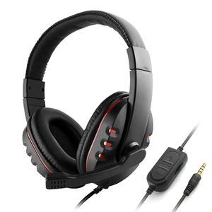 Image 1 - 3,5mm cascos con cable para jugar por oído juego de auriculares de cancelación de ruido auriculares con Control de volumen del micrófono para PC teléfono inteligente