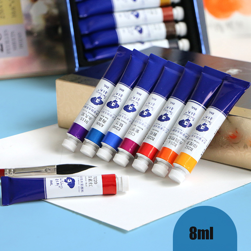 Paul Rubens 8ml 12/24/48 Colors Tube Sets Watercolor Pigment Professional  Acuarela Water Color Paint for Painting Art Supplies|Water Color| -  AliExpress