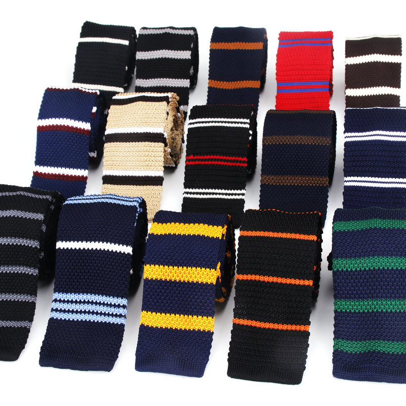 Men's Fashion Suits Knit Tie Plain Necktie For Wedding Party Tuxedo Striped Woven Skinny Gravatas Cravats Accessories Neckwear