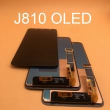 100% Test OLED ekran Samsung Galaxy J8 2018 J810 SM J810 J810M LCD ekran değiştirme dokunmatik ekran paneli
