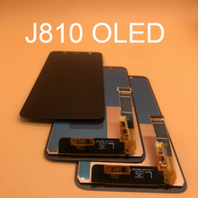 삼성 갤럭시 J8 100% J810 SM J810 J810M LCD 화면 교체 터치 스크린 pancel에 대 한 2018 테스트 OLED 디스플레이