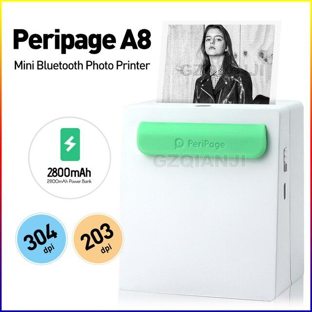 מדפסת בחדות גבוהה 203/304 Dpi מיני 58mm 2 אינץ תרמית תווית תמונה הערות bluetooth מדפסת עם את משלוח APP תמונה מדפסת