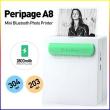 Mini imprimante haute définition 203/304 Dpi, 58mm, 2 pouces, connexion bluetooth, étiquettes thermiques pour notes et application gratuite