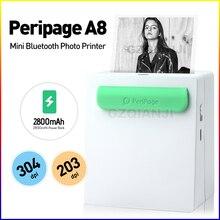 O wysokiej rozdzielczości drukarki 203/304 Dpi Mini 58mm 2 cal termiczna etykiet zdjęcie nuty drukarka bluetooth z darmowa aplikacja drukarka fotograficzna