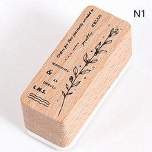 Designs Plant Styles Wooden Rubber Stamp for Scrapbooking Deco DIY Craft Standard Wooden Stamps Ink journal supplies