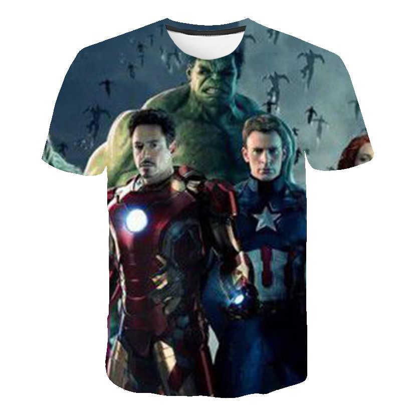 Verão crianças t camisa meninos roupas herói infinito guerra super herói thanos hulk tshirts para meninas crianças roupas do bebê