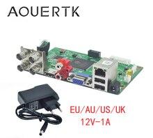 AOUERTK 1080P/1080N/5MP 5in1AHD CVI TVI CVBS 4CH CCTV DVR board H.265/H.264 1*SATA XMEYE
