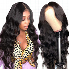Silk Base Wig Lace Front Human Hair Wigs Peruvia Body Wave Lace Front Wig For Black Women Remy Dorisy Hair(China)