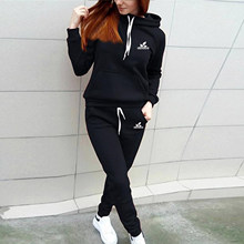 Sports suit women 2021 European version spring and autumn women's new hooded pullover casual pants