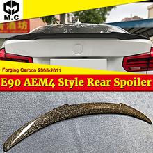 все цены на E90 Sedan M4 Style Forging Carbon Trunk Spoiler Wing For BMW 3-Series 318i 320i 323i 325i 328i 335i Add on Look Rear Wings 05-11