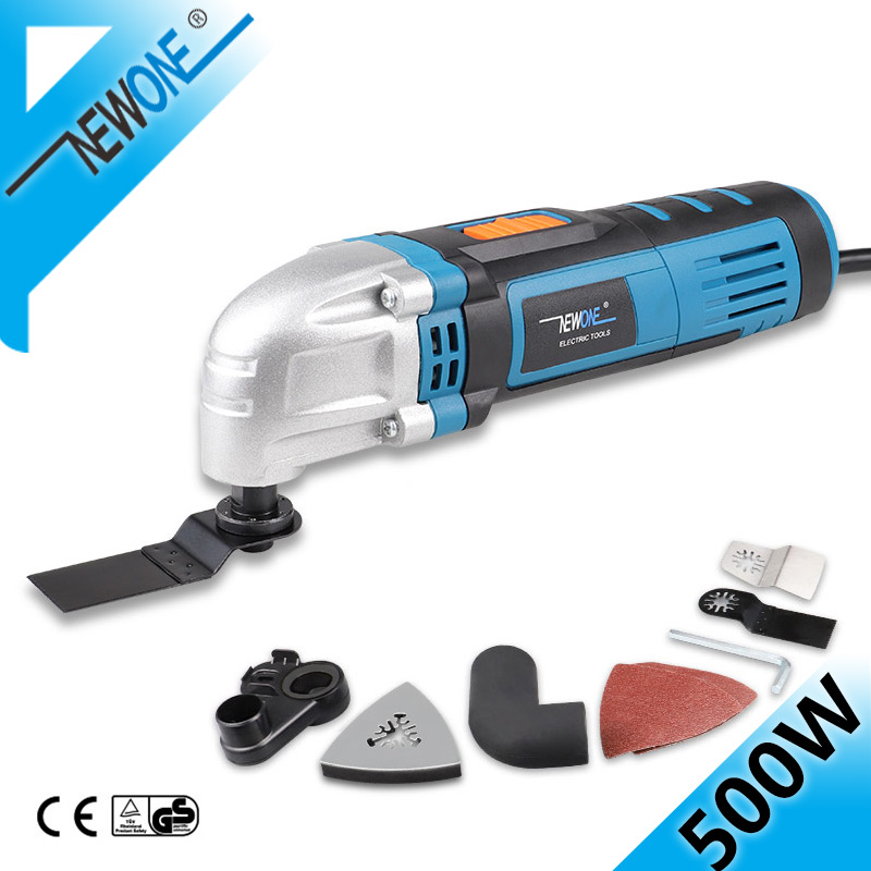 NEWONE 230V Oscillating Tool in 500W Oscillating Multi-Tool With Saw BladesVariable Speed Function Trimmer Renovation Tool