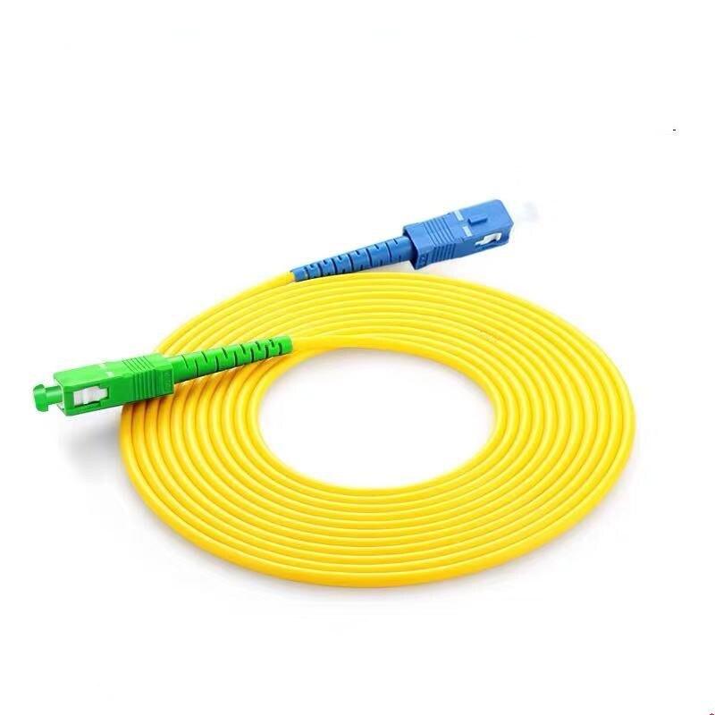 10PCS/lot SC/ UPC-SC/ APC Simplex mode LSZH Fiber Optic Patch Cord For CATV Network 3
