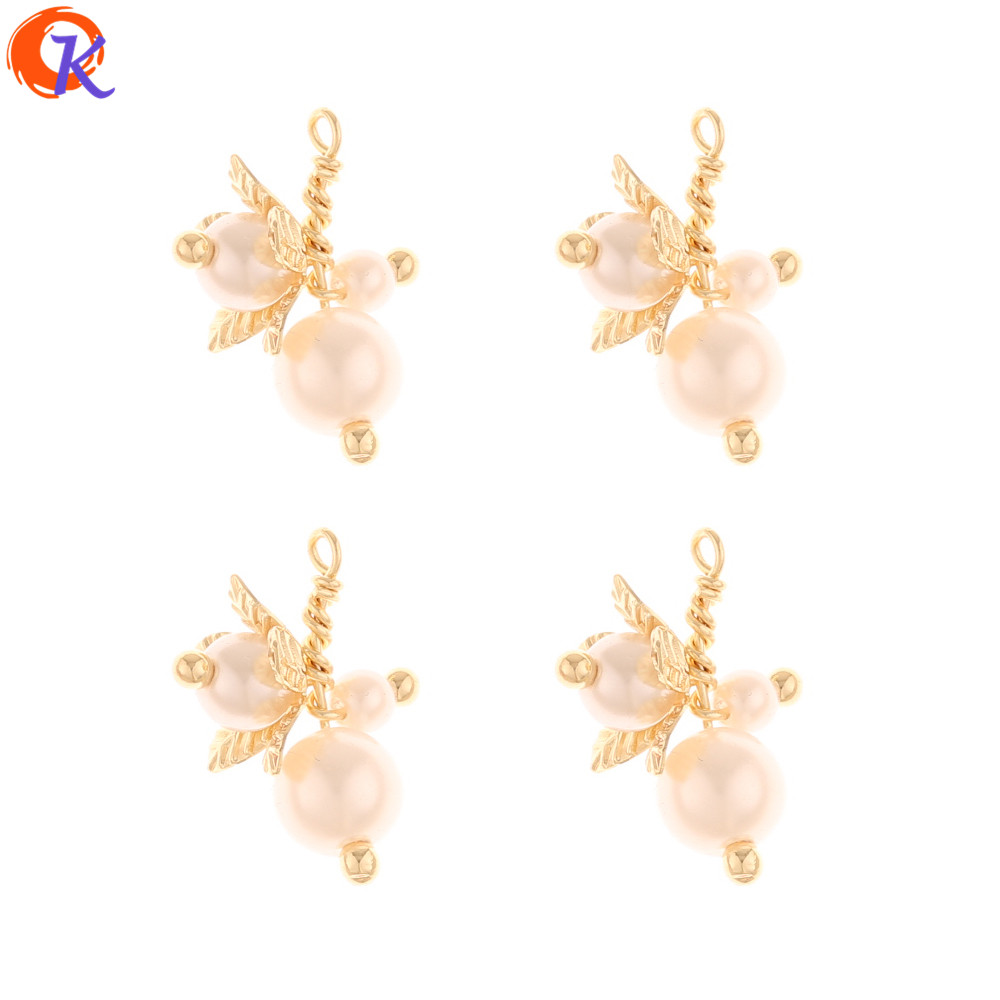 Cordial Design 40Pcs 16*22MM Jewelry Accessories/Imitation Pearl/Earring Findings/Genuine Gold Plating/Hand Made/DIY Making
