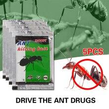 Наживка против тараканов, насекомых на открытом воздухе, муравьиная наживка, муравьиная наживка, порошок для уничтожения, 5 шт., для кухни, для ловли насекомых, для дома, Нетоксичная