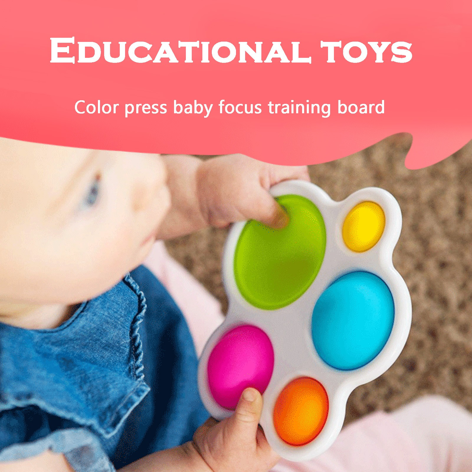 Fat-Brain-Toys Popit Fidge Simple Dimple Infant Intelligence-Development Intensive Early-Education