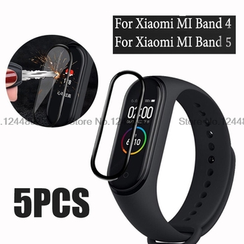5 PCS 3D Full Curved Soft Tempered Glass For Xiaomi Mi Band 4 5 Explosion-Proof Screen Protector For Mi Band 4 5 Protective Film protective clear screen protector film for lg nexus 5 e980 transparent 10 pcs