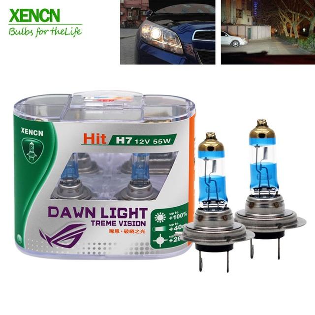 Xencn H7 55 W 12V 3800K Dawn Light X Treme Vision Auto Koplampen Duitsland Tech Halogeen Auto lampen Gratis Verzending Nieuwe 2 Pcsh7 h4h7 lampbulb chain