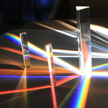 Triangular Prism 14 * 14 * 87mm  Rainbow Glass Photographic Prisms Teaching Optical Experiment Photography Light Gift new total station prisms mini little small prism contains four rods and connectors micro prism pole