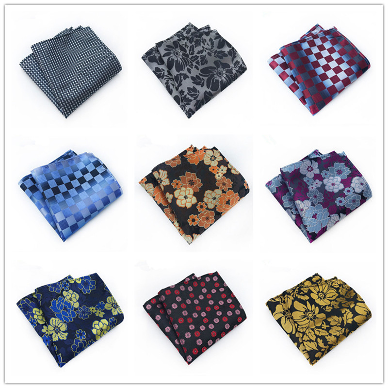New25*25CM Pocket Square Paisley Floral Plaid Style Man Gift Business Suit