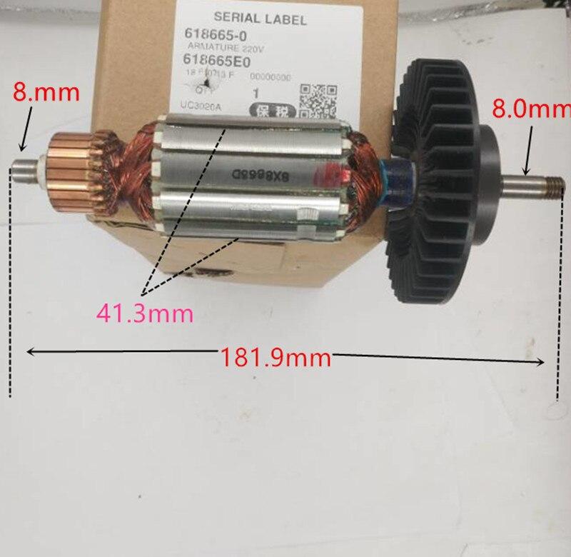 220-240V Armature Rotor For Makita Uc3020a UC3520A UC4020A 513713-9