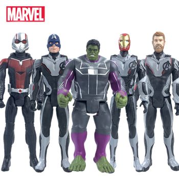 Disney Marvel Toys The Avenger Endgame 30CM Super Hero Action Figure Thanos Hulk Iron Man Captain America Anime Dolls Kids Toys anime movie figure the avenger iron man gloves with light cosplay tool action figure collectible model toys for boys