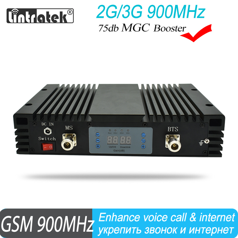 Lintratek GSM 900mhz 75dB Gain Mobile Phone Signal Booster MGC 23dBm Power Cell Amplifier Repeater Cover 800 Square Meters#20