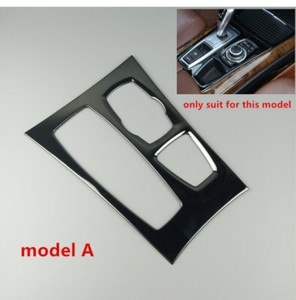 Image 4 - คอนโซลกลางสีดำเกียร์SHIFT PANELตกแต่งฝาครอบTrimสำหรับBMW X5 E70 X6 E71 2008 2014 LHDสแตนเลสรถเหล็กจัดแต่งทรงผม