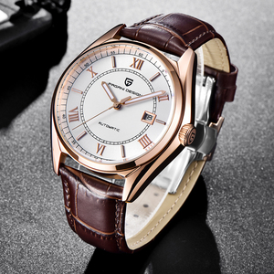 Image 5 - パガーニメンズ高級ファッション自動機械式時計男性スポーツ防水本革腕時計レロジオ Masculino