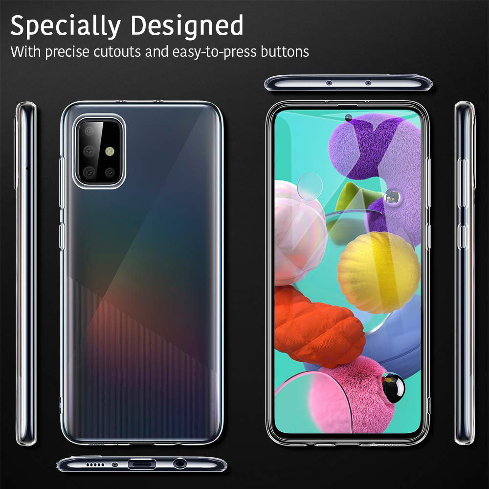 3-In-1 Glass + Case For Samsung Galaxy A51 A71 Screen Protector Tempered Glass For Galaxy A 51 A71 Camera Protector Glass
