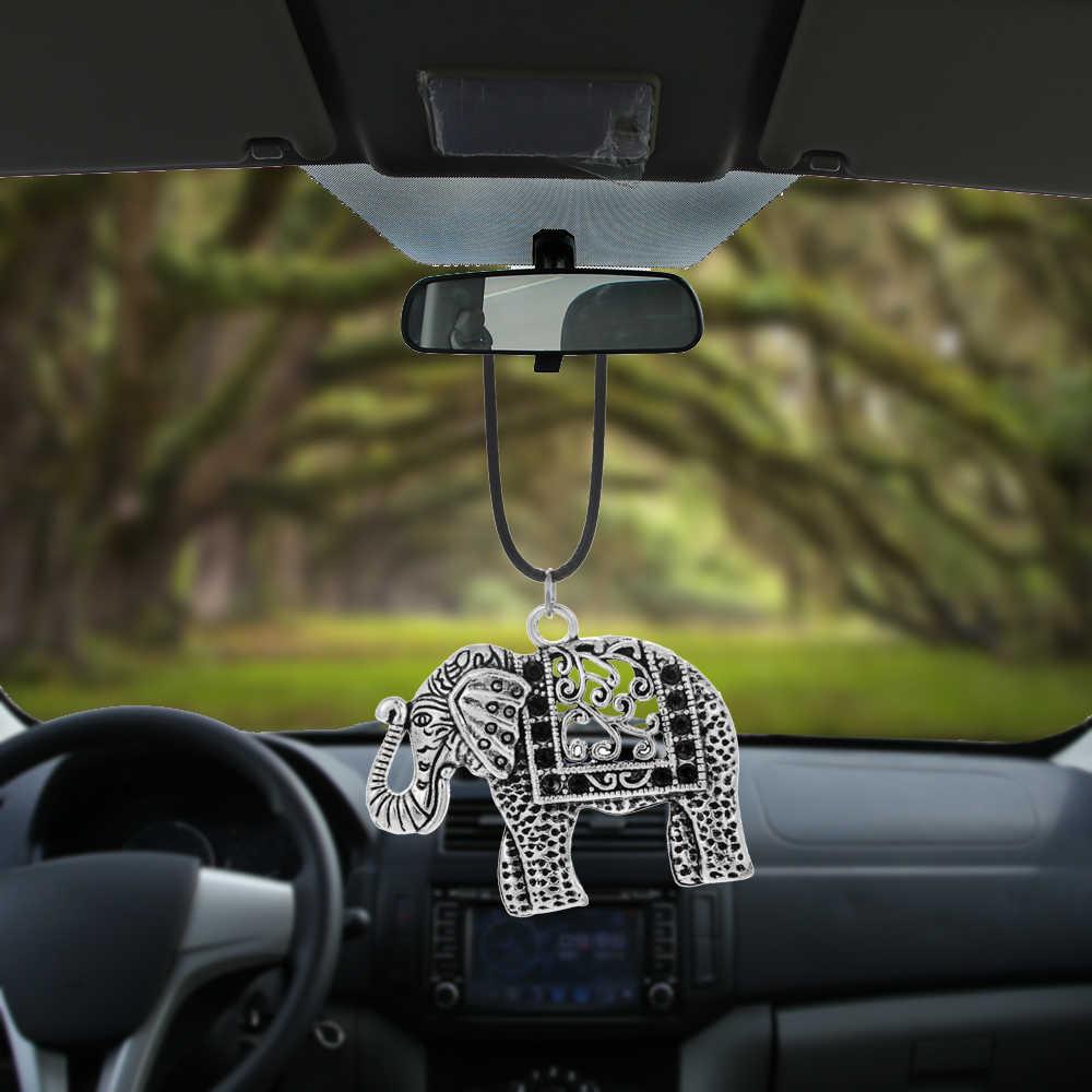 Pingente de elefante para pendurar no carro, decoração interior automotivo, espelho retrovisor, acessórios de ornamento
