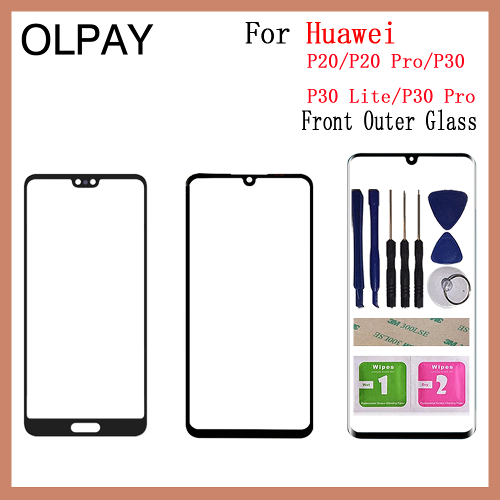 Touch Screen Glass For Huawei P20 P20Pro P30 P30 Lite P30 Pro LCD Display Panel Front Outer Glass Lens Spare Parts Replacement