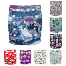 1 предмет, Детские Моющиеся Многоразовые, настоящая стандартная ткань, застежка-липучка, карман для подгузников, пеленки, накидка, костюмы для детей 0-3 лет, один размер